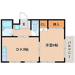 コンフォート宮崎[301号室号室]の間取り