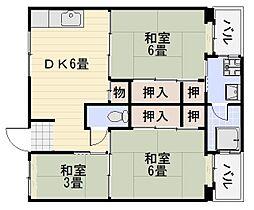 ビレッジハウス9号棟[3階]の間取り
