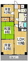 ライオンズマンション清瀬中央公園[4階]の間取り