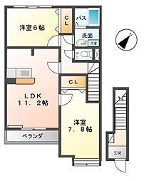 サンプレイスM A棟[2階]の間取り