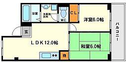 大阪府大阪市淀川区西中島3丁目の賃貸マンションの間取り