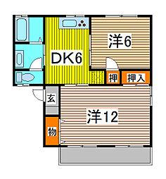 埼玉県川口市大字安行の賃貸マンションの間取り