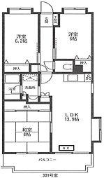シェトワボヌール[3階]の間取り