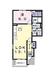 埼玉県新座市西堀1丁目の賃貸アパートの間取り