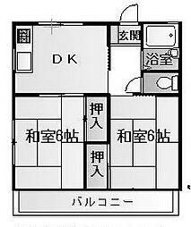 ハイツ日比野[2階]の間取り