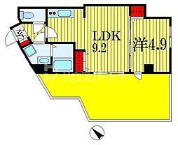 Vermilion(ヴァーミリオン) 7階1LDKの間取り