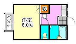 コーポツヅキ[1階]の間取り