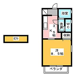 サンジミニャーノ トーレ 2階1Kの間取り