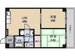 ハイグレード吉野[5階]の間取り
