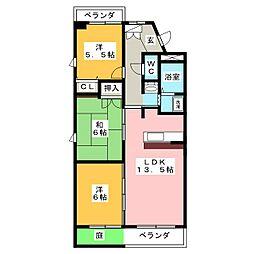 ルネス新岐阜[7階]の間取り