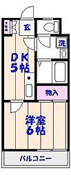 第三吉ビル[208号室]の間取り