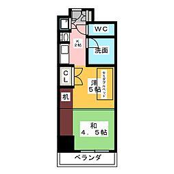 プログレンス栄[3階]の間取り