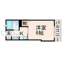 兵庫県尼崎市武庫之荘西2丁目の賃貸アパートの間取り