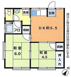 川島荘[2階]の間取り