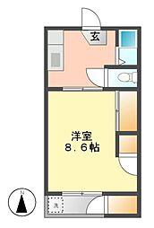 亀島マンション[3階]の間取り