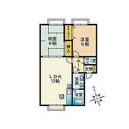 メロディビューラー A棟[1階]の間取り