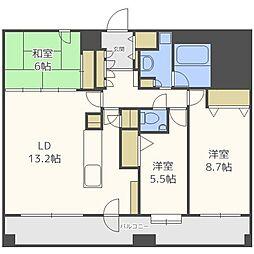 北海道札幌市中央区北四条西20丁目の賃貸マンションの間取り