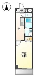 ドマーニ上小田井[2階]の間取り