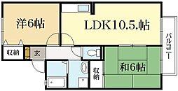 クレール井ノ口A棟[1階]の間取り
