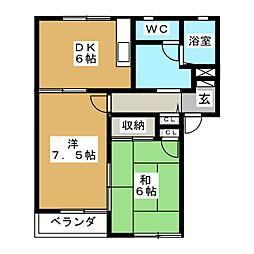 スターブルII[2階]の間取り
