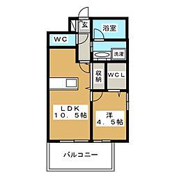 アクタス箱崎ステーションコート[13階]の間取り