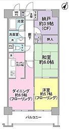 神奈川県横浜市緑区東本郷6丁目の賃貸マンションの間取り