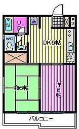 埼玉県さいたま市中央区鈴谷5丁目の賃貸アパートの間取り