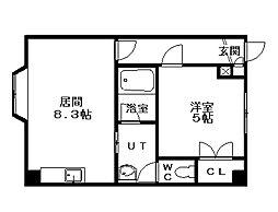 北海道札幌市南区南三十五条西10丁目の賃貸マンションの間取り
