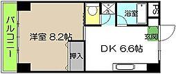 池本マンション[605号号室]の間取り