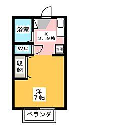 パークサイド松浦[2階]の間取り