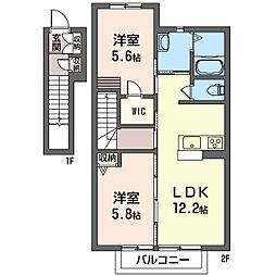 メゾン清里A[2階]の間取り