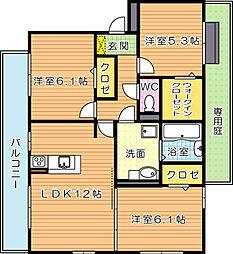 ホワイトパレス藤ノ元[1階]の間取り