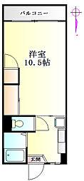 タカノマンションA[107号室]の間取り