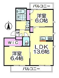 東京都足立区西保木間1丁目の賃貸マンションの間取り
