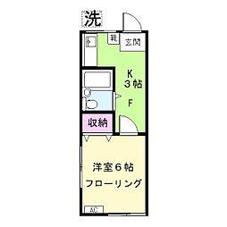ハイツ松崎[2階]の間取り