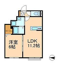 千葉県松戸市松戸の賃貸アパートの間取り