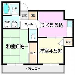 松本ハウス[305号室]の間取り