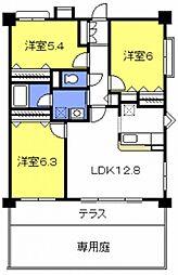 埼玉県さいたま市桜区大字大久保領家の賃貸マンションの間取り