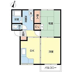 新潟県新潟市江南区城所2の賃貸アパートの間取り