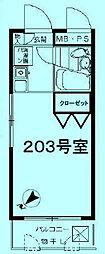 モナークマンション溝の口第2[2階]の間取り