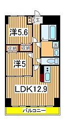 K.Mおおたかの森[5階]の間取り