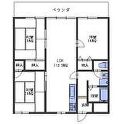 広島県呉市阿賀中央8丁目の賃貸マンションの間取り