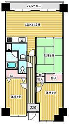大阪府大阪市住之江区新北島7丁目の賃貸マンションの間取り