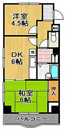 リッツ大阪[2階]の間取り