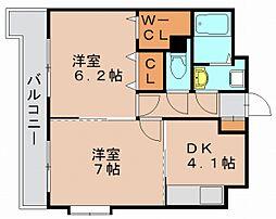 グランドゥール27[2階]の間取り