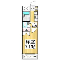 あすなろマンション[1階]の間取り