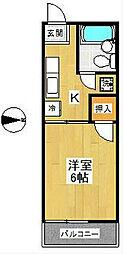 スカイパルB棟[2階]の間取り