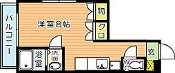 カリタスプラザ[2階]の間取り