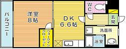ウィングス片野Ⅱ[1503号室]の間取り
