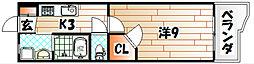 ギャラン井堀[6階]の間取り